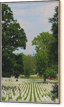 Heroes And A Monument Wood Print by Patti Whitten