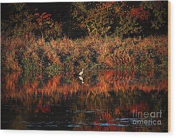 Heron Hideaway Wood Print