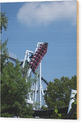 Hershey Park - Great Bear Roller Coaster - 121212 Wood Print by DC Photographer