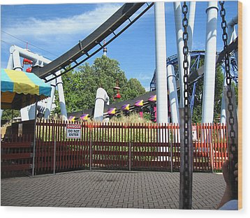 Hershey Park - Great Bear Roller Coaster - 121217 Wood Print by DC Photographer