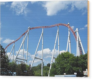Hershey Park - Storm Runner Roller Coaster - 12126 Wood Print by DC Photographer