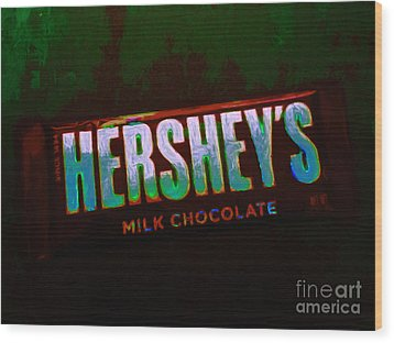 Hershey's Chocolate Bar Wood Print by Wingsdomain Art and Photography