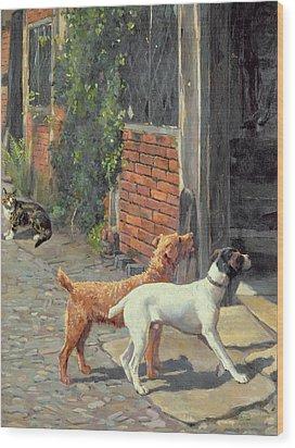 Hesitation Wood Print by Alfred Duke