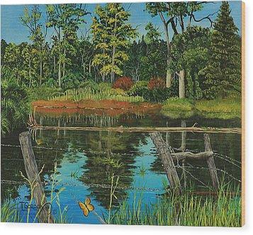 Hesperus Pond Wood Print