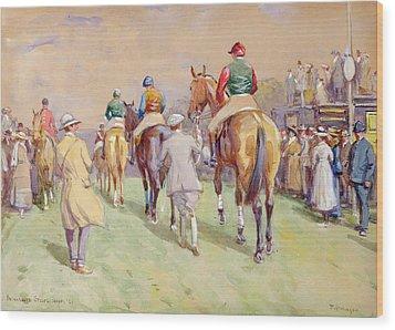 Hethersett Steeplechases Wood Print by John Atkinson