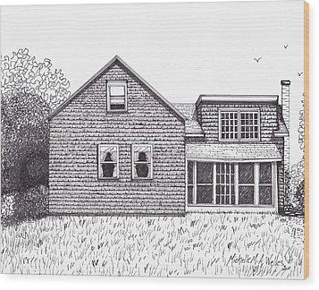 Hettinger Family Farm Wood Print by Michelle Welles