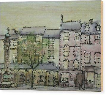 Hexham Market Place Northumberland  England Wood Print