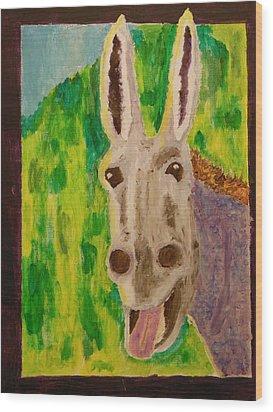 Hey Jack Wood Print by Harold Greer