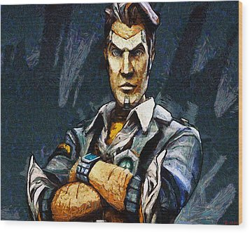 Hey Vault Hunter Handsome Jack Here Wood Print