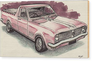 Hg Holden Ute Wood Print