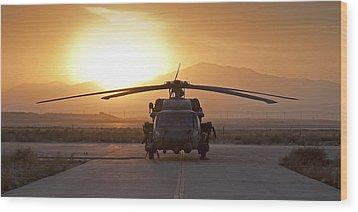 Hh-60 Pavehawk Wood Print by Tim Grams