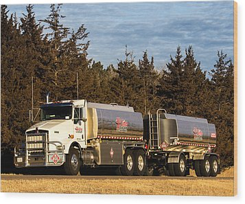 Hi-line Coop Tanker Wood Print by Bill Kesler