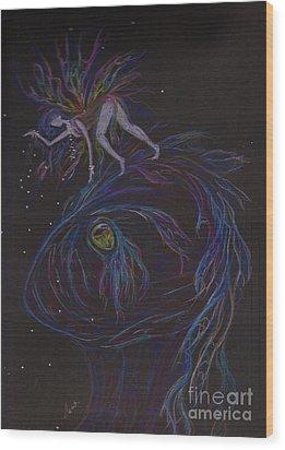 Hi There Wood Print by Dawn Fairies