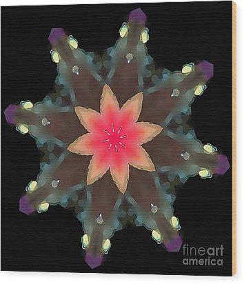 Hibiscus Mandala Wood Print by Wernher Krutein