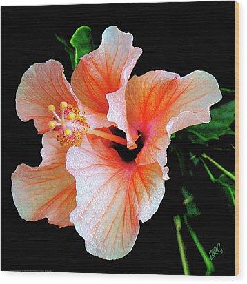 Hibiscus Spectacular Wood Print by Ben and Raisa Gertsberg