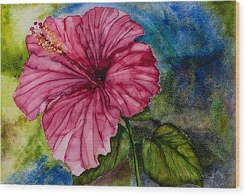 Hibiscus Study Wood Print