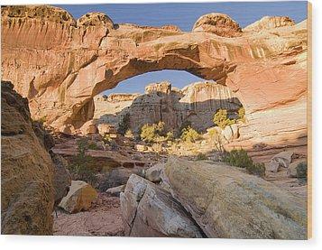 hickmans bridge cap reef N.P. Utah Wood Print