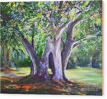 Hickory Hole Wood Print by AnnaJo Vahle