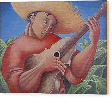Hidalgo Campesino Wood Print by Oscar Ortiz