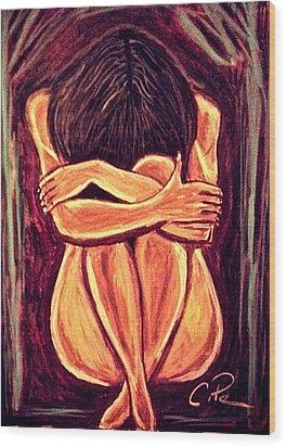 Hidden Beauty Wood Print by Chrissy  Pena