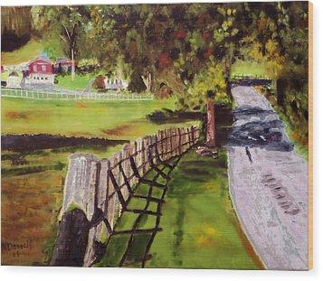 Hidden Brook Farm Wood Print by Michael Daniels