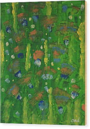 Hidden Catus Wood Print by Olivia  M Dickerson