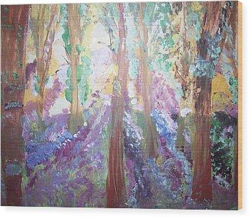 Hidden Forest Fairies Wood Print by Judith Desrosiers