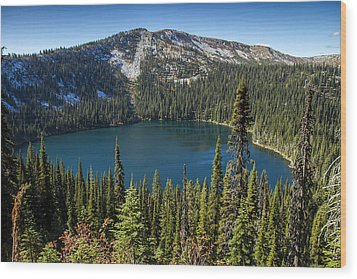 Hidden Lake In Idaho Wood Print by For Ninety One Days