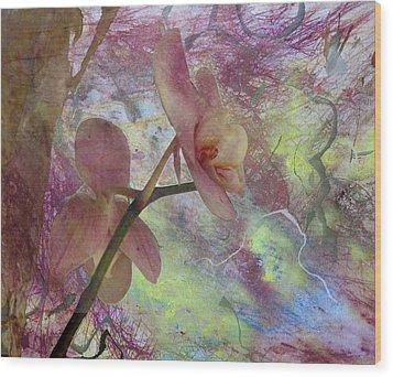 Hidden Orchid Wood Print