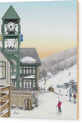Hidden Valley Ski Resort Wood Print by Albert Puskaric