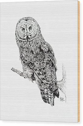 Hidden Wisdom Wood Print by Tish Wynne