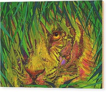 Hiding Wood Print by Jane Schnetlage