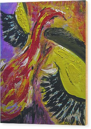Wood Print featuring the painting Hier Au Cirque by Lucy Matta