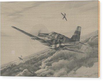 High-angle Snapshot Wood Print by Wade Meyers
