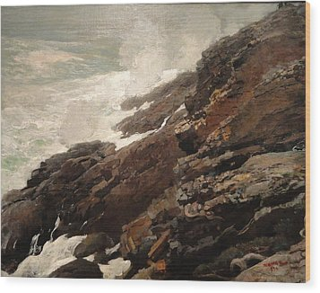 High Cliff Coast Of Maine 1894 Wood Print by Philip Ralley