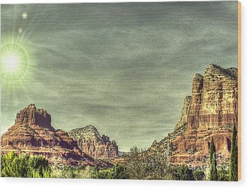 High Country Wood Print by Dan Stone