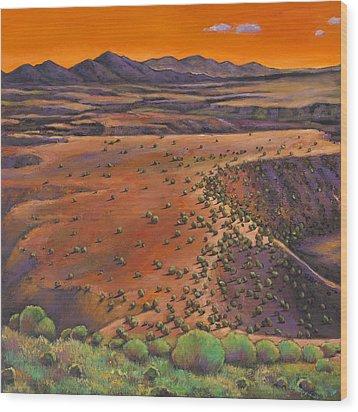 High Desert Evening Wood Print by Johnathan Harris