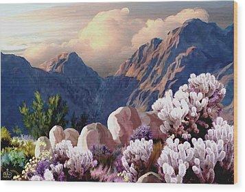 High Desert Sunrise Wood Print