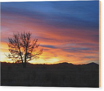 Wood Print featuring the photograph High Desert Sunset by Kevin Desrosiers