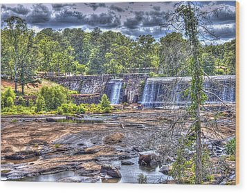 Wood Print featuring the photograph High Falls Dam by Donald Williams