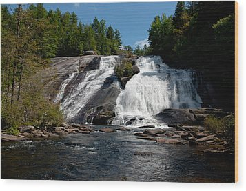 High Falls North Carolina Wood Print