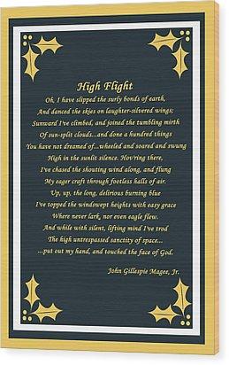 High Flight Wood Print