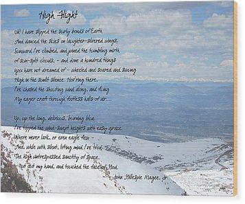 High Flight Wood Print by Paulette B Wright