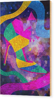 High Heels On Ropes Wood Print by Kenal Louis