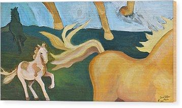 High Horse Wood Print