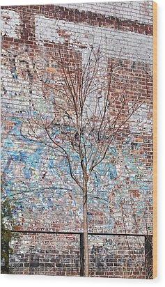High Line Palimpsest Wood Print by Rona Black