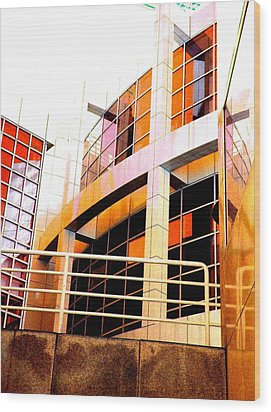 Wood Print featuring the photograph High Museum Of Art by Cleaster Cotton