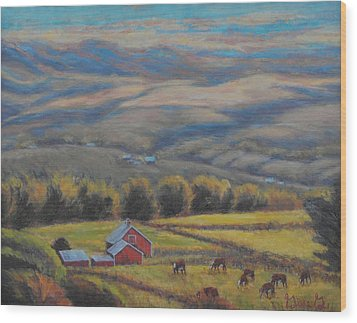 High On The West Slope Wood Print