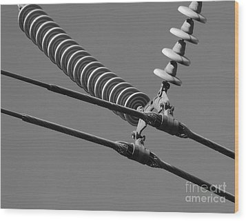 Wood Print featuring the photograph High Power Line - 4 by Kenny Glotfelty