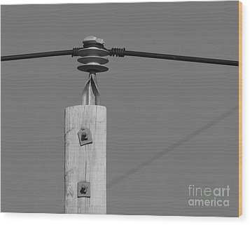 Wood Print featuring the photograph High Power Line - 6 by Kenny Glotfelty